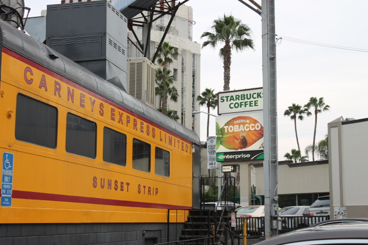 carney train on sunset strip