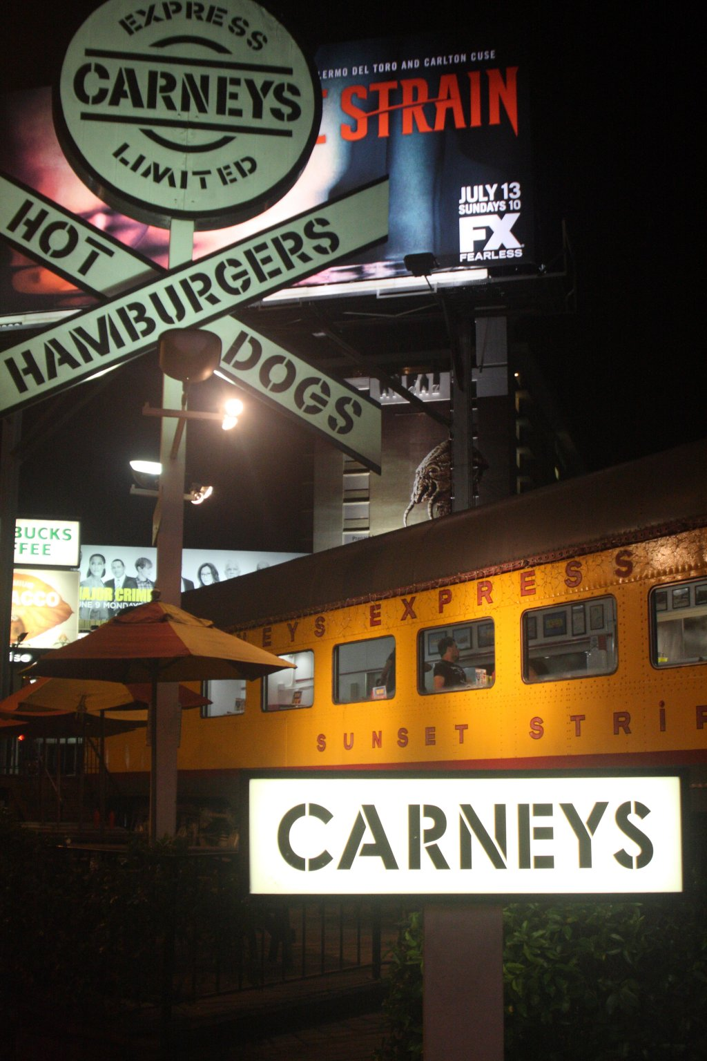 Carneys carney train on sunset strip