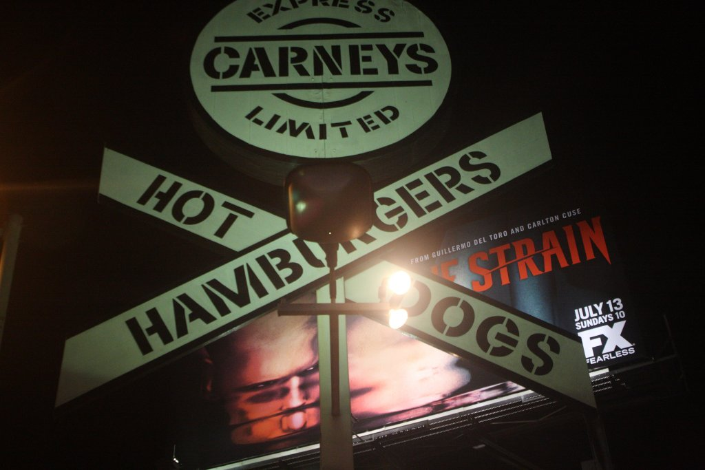 carney train sign