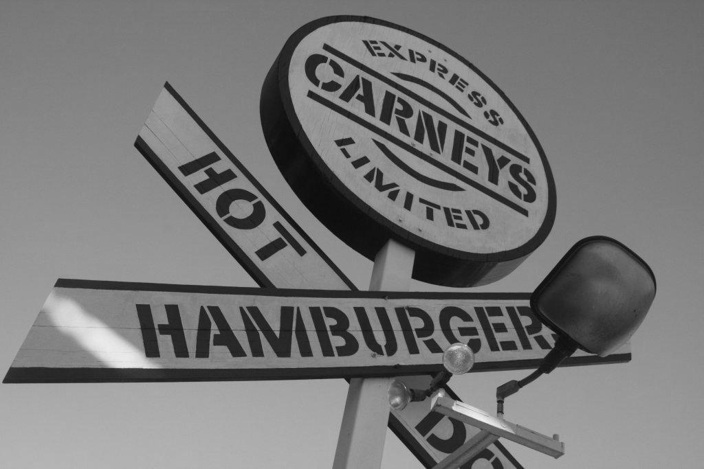 carneys carney train sign