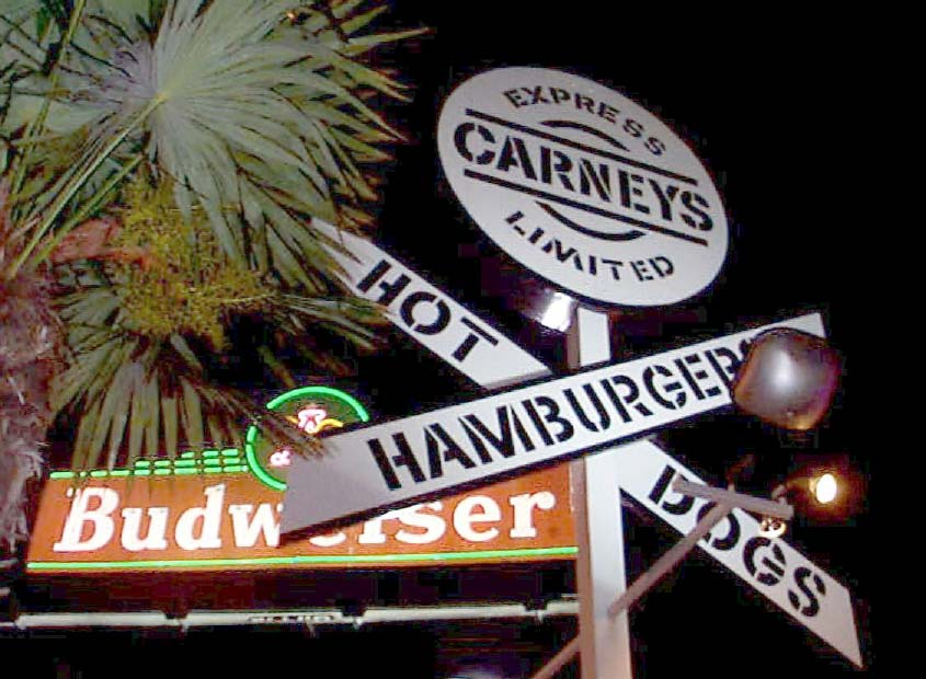 carneys at night on sunset strip
