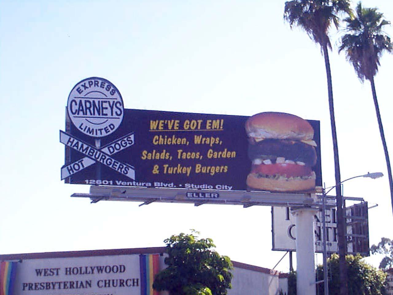 Carneys billboard
