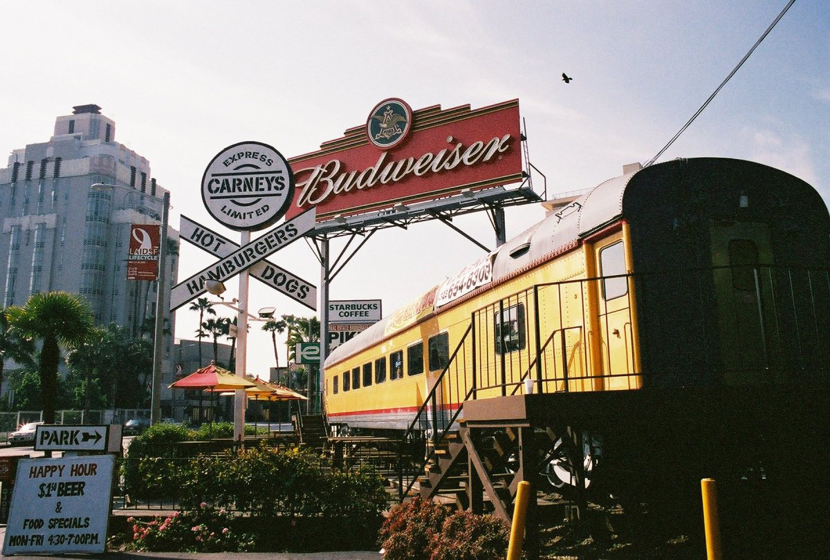 Old photo of sunset strip
