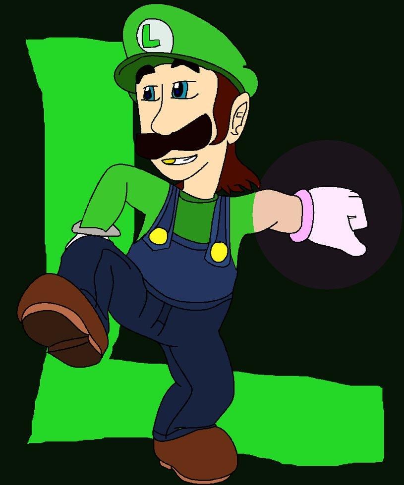 old graphic Luigi